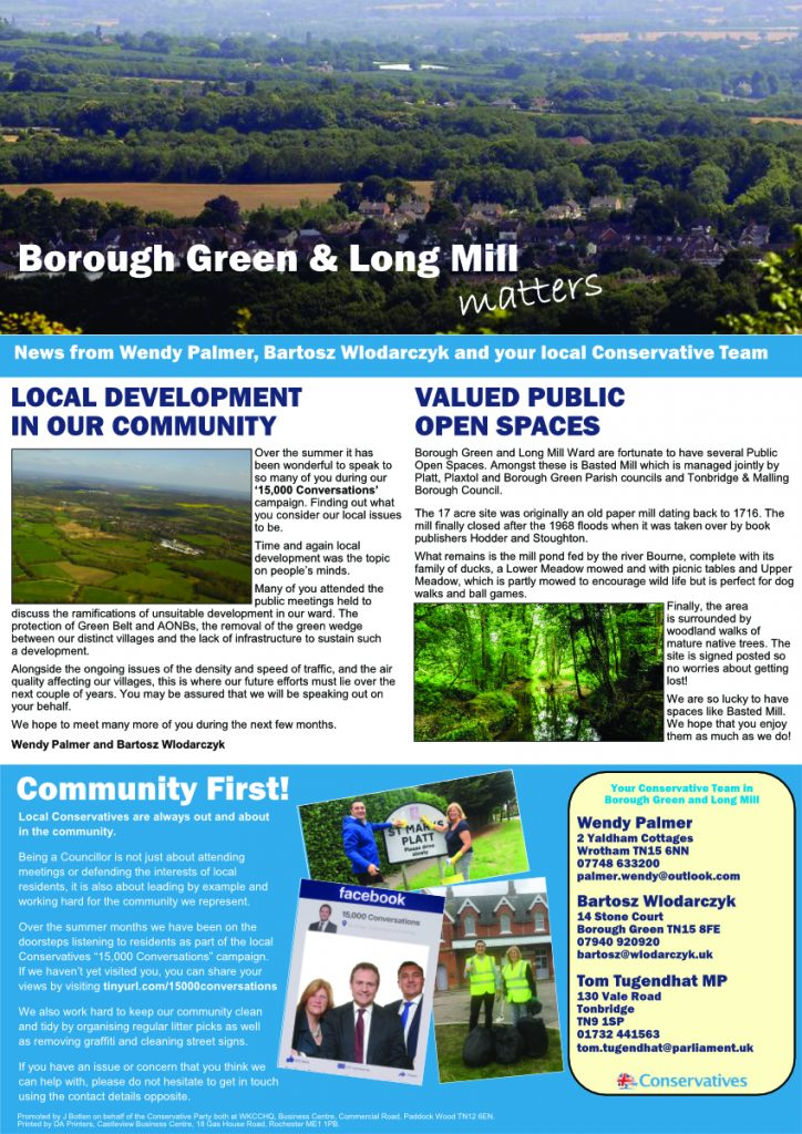Borough Green Autumn newsletter
